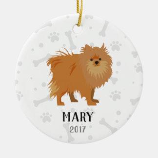 Enfeites de natal personalizados cão de Pomeranian