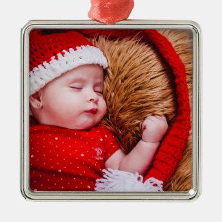 Enfeites de natal personalizados da foto do bebê