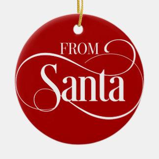 Enfeites de natal personalizados de Papai Noel