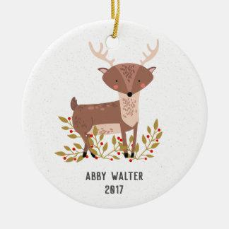 Enfeites de natal personalizados dos cervos da