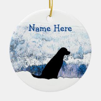 Enfeites de natal pretos de Labrador