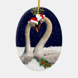 Enfeites de natal sazonais das cisnes
