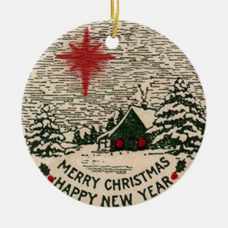 Enfeites de natal, selo 1911 do Natal do vintage