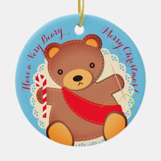 Enfeites de natal sewing do urso de ursinho da