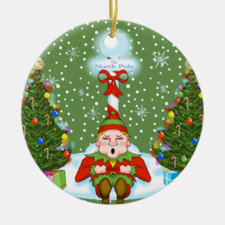Enfeites de natal sonolentos do duende