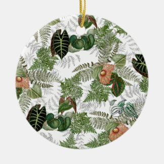 Enfeites de natal tropicais das flores das