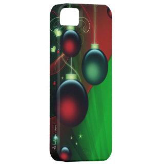 Enfeites de natal verdes & vermelhos capas para iPhone 5