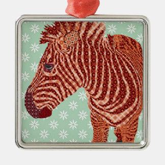Enfeites de natal vermelhos da zebra do vintage