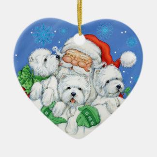 """Enfeites de natal """"XOXO"""" de Westie por Borgo"""