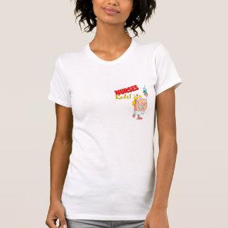 enfermeira bonito dos desenhos animados da regra camisetas