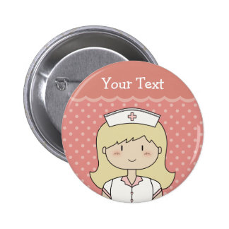Enfermeira bonito dos desenhos animados louro pins
