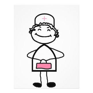 enfermeira cor-de-rosa flyer 21.59 x 27.94cm