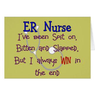 """Enfermeira """"CUSPE do ER no MORDIDO e no GOLPEADO """" Cartões"""