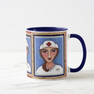 Enfermeira da arte popular - caneca do RN/cuidados