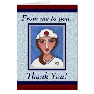Enfermeira da arte popular - cartões de
