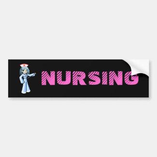 Enfermeira do Anime com o uniforme do azul do este Adesivos