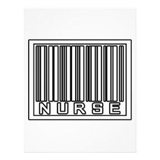 Enfermeira do código de barras panfleto