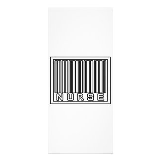 Enfermeira do código de barras 10.16 x 22.86cm panfleto