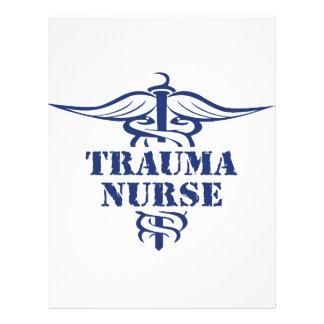 enfermeira do traumatismo panfleto personalizado