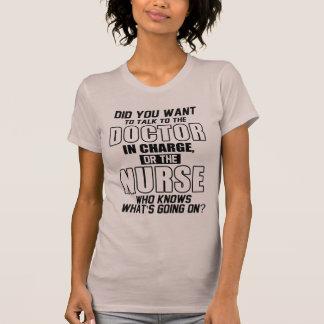 enfermeira engraçada camiseta