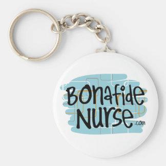 Enfermeira genuína chaveiro