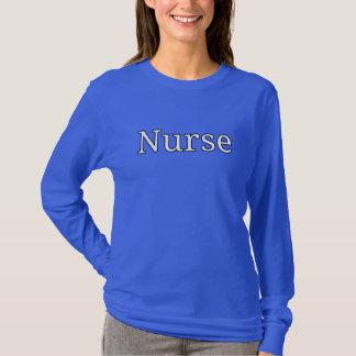 """""""Enfermeira"""", impressão da camisa do desenhista"""