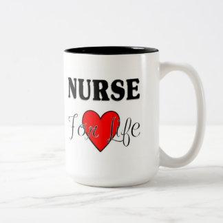 Enfermeira para a vida RN & a caneca de LPN