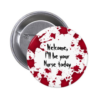 Enfermeira psicótico sangrenta bem-vinda do Dia da Botons