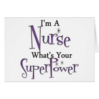 Enfermeira super cartão comemorativo