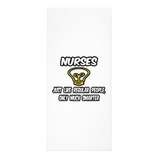 Enfermeiras… como as pessoas regulares, somente ma 10.16 x 22.86cm panfleto