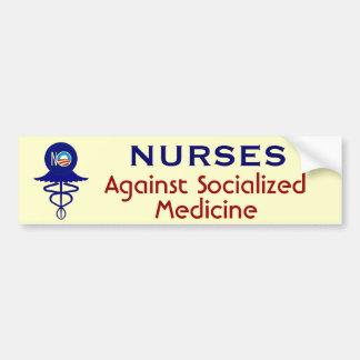 Enfermeiras contra a medicina socializada adesivo para carro