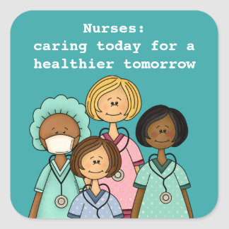 Enfermeiras dia, etiquetas do presente da semana