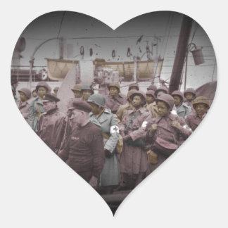 Enfermeiras do afro-americano no navio adesivos de corações