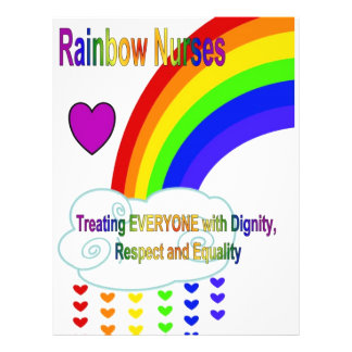 Enfermeiras do arco-íris modelos de panfleto
