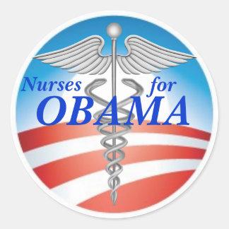 Enfermeiras para OBAMA Adesivos