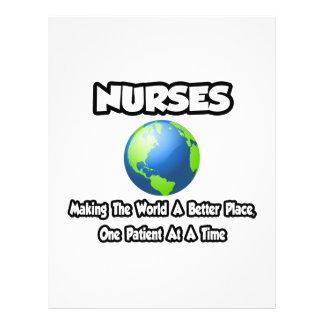 Enfermeiras… que fazem ao mundo um lugar melhor modelo de panfleto