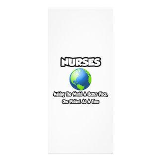 Enfermeiras… que fazem ao mundo um lugar melhor panfletos informativos
