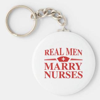 Enfermeiras reais do casado dos homens chaveiro