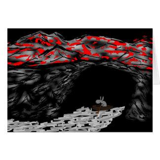 enfileiramento do asno na caverna cartão