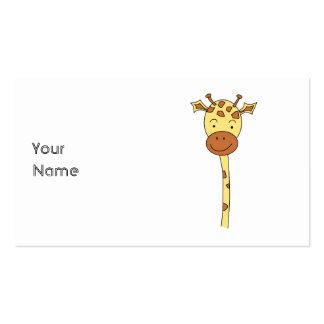 Enfrentar do girafa envia. Desenhos animados Cartão De Visita