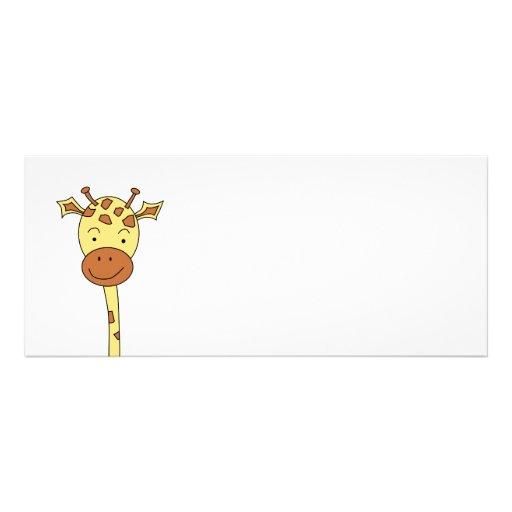 Enfrentar do girafa envia. Desenhos animados Convites Personalizado