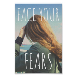 """'Enfrente o papel poster dos seus medos de"""""""
