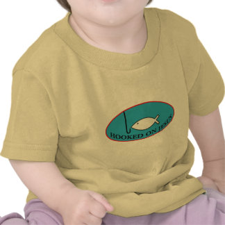 Enganchado na camisa da criança de Jesus T-shirt
