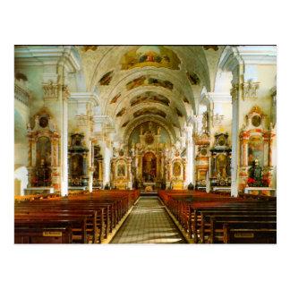 Engelberg, igreja católica romana cartoes postais