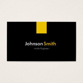 Engenheiro audio - amarelo ambarino moderno cartão de visitas