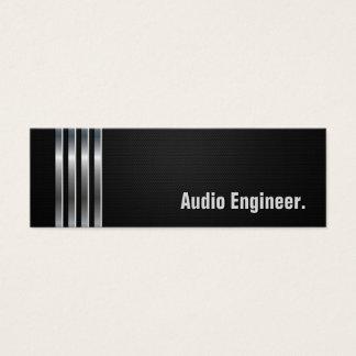 Engenheiro audio - listras de prata pretas cartão de visitas mini