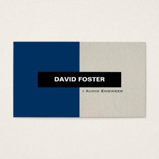 Engenheiro audio - na moda elegante simples cartão de visitas