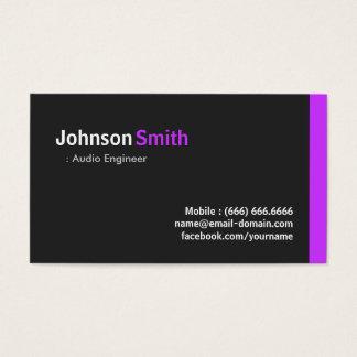 Engenheiro audio - roxo mínimo moderno cartão de visitas