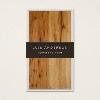 Engenheiro audio - textura de madeira à moda cartão de visitas