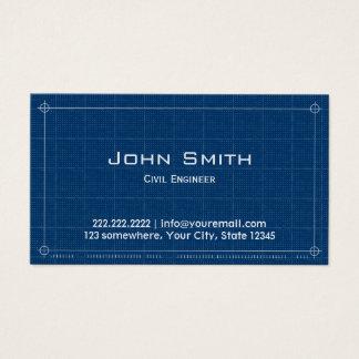 Engenheiro civil do modelo da construção cartão de visitas